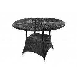 Round Cafe Table 1000 - Black