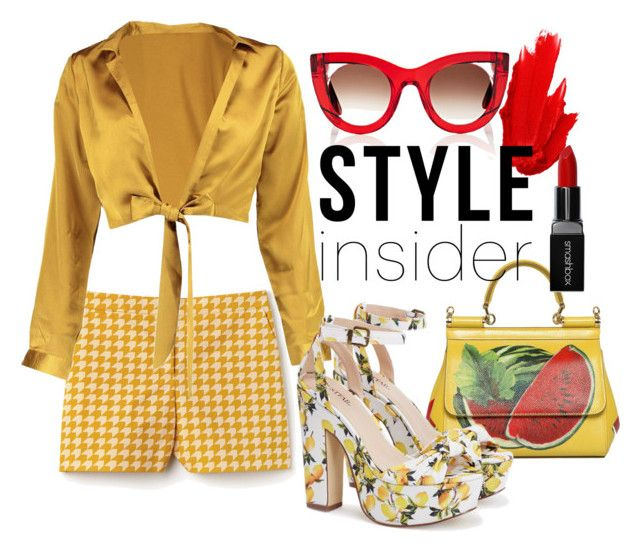 Starlet style by illetilmote on Polyvore featuring Boohoo, Lacoste, Dolce&Gabbana, Thierry Lasry, Smashbox and Maybelline