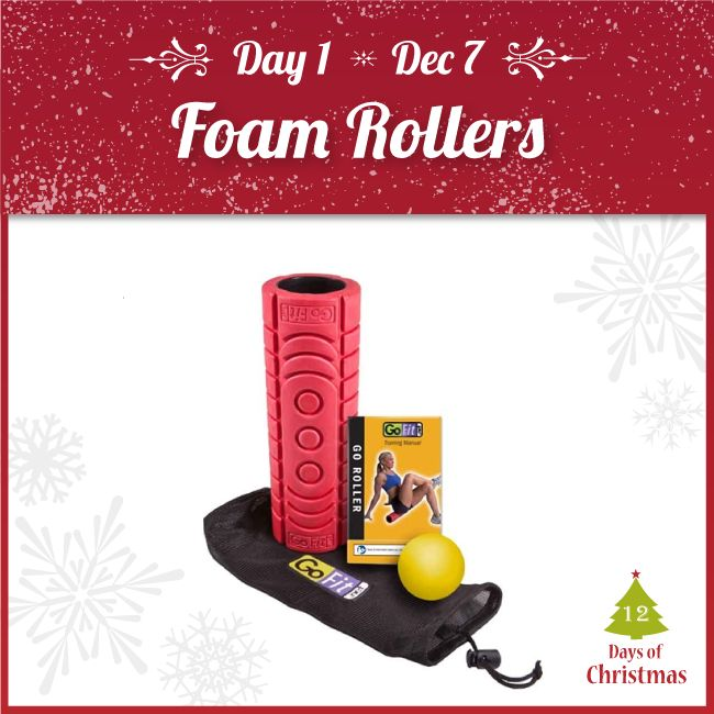 Our 12 Days of Christmas sale STARTS TODAY!  When you're exercising on the go, these GoFit Travel Foam Rollers are perfect for your post-exercise stretches and recovery @ 20% OFF!  You can grab them in-store or from our webstore here! http://kint.ec/Day1Roller  USE CODE: XMAS1