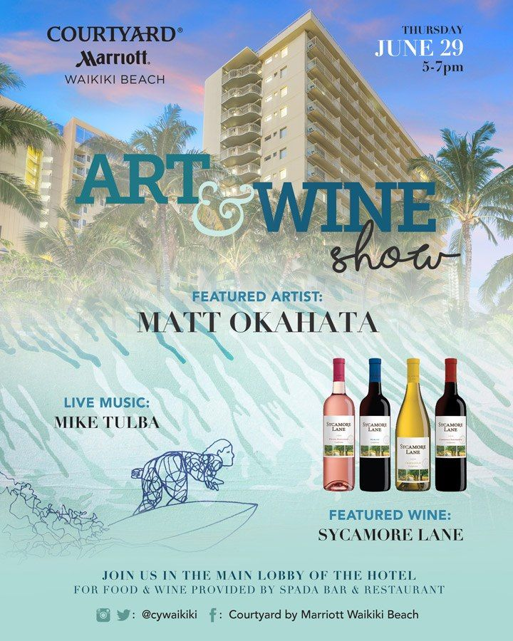 Featured in the lobby of the Courtyard by Marriott Waikiki Beach on Thursday, June 29 from 5-7 p.m. for the monthly Art & Wine Show! This month's ...