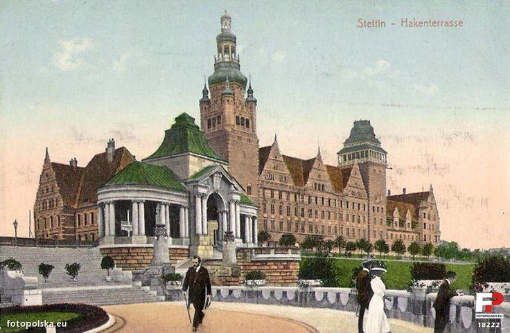 Układ urbanistyczny Wały Chrobrego (Hakenterrasse (Tarasy Hakena)), Szczecin - 1914 rok, stare zdjęcia
