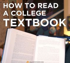 Super useful tips on how to read your textbooks in college! Entire helpful video series on this website too.