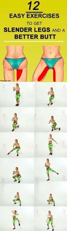 12 Easy Exercises to Get Slender Legs and a Better Butt – Toned
