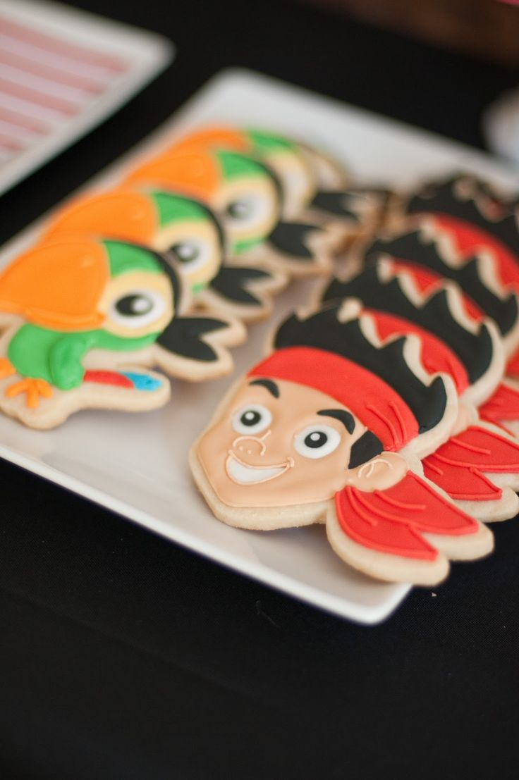 Jake and the Neverland pirates cookies ---{Sugar Mama Cookies} So cute!