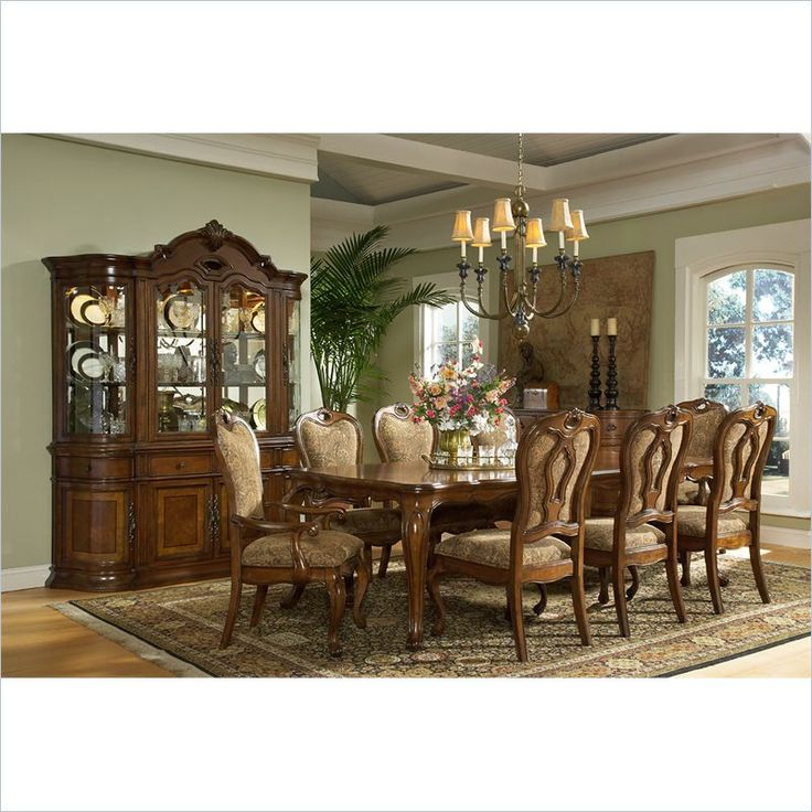 Largo Furniture Traviata Rectangular Table With Leaf In Umbria