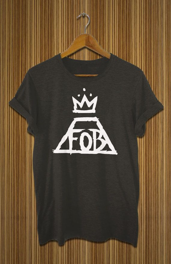 fall out boy shirt black white grey fob tshirt for by findurshirt