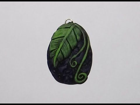 Polymer Clay Leaf Pendant - YouTube