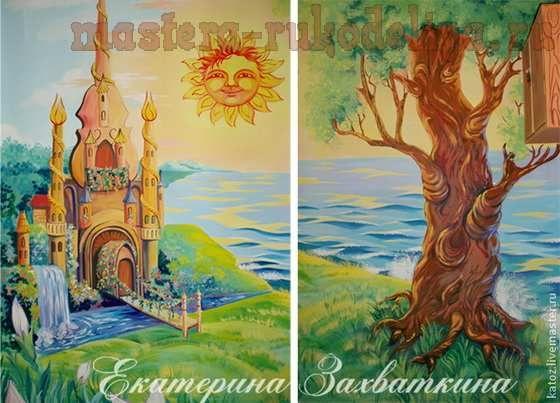Мастер-класс по росписи: Настенная роспись и рельеф из шпаклевки