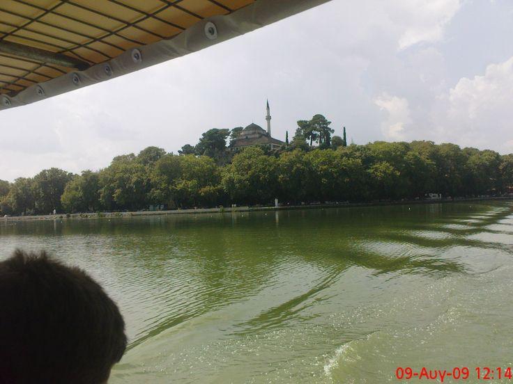 Pamvotida lake in Ioannina-Greece