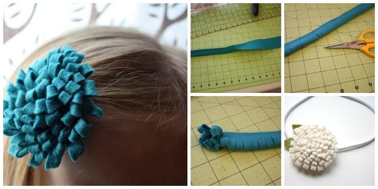 felt flower & headband