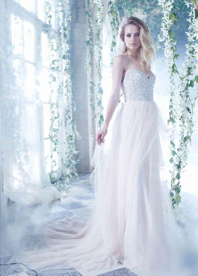 Great Mori Lee Dress Pink Wedding