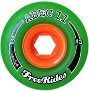 Abec 11 Centerset Freeride 72mm Green 81a  gotta get me some of these.