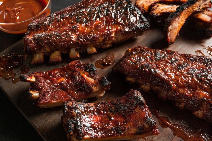Easy BBQ Baby Back Pork Ribs Recipe.  ).  I didn't use their rub recipe as I had a bottle of BBQ spices already in the pantry.  Then I used bottled BBQ sauce too because it was already in the fridge.  I had 2 lbs of ribs, so 1 ½ hours was enough in the oven for that amount.  They say estimate 1 lb. per person.