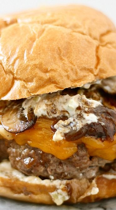 The Arnold - Meatloaf Burger with Onions, Mushrooms, and Gravy