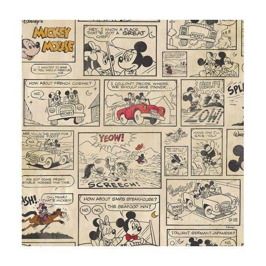 Papier Peint Mickey et Minnie Disney - Revêtement sol et mur
