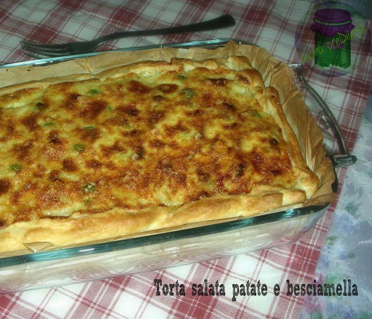Torta salata patate e besciamella, cucina preDiletta