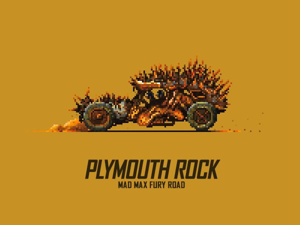 Misha Petrick & Mazok Pixels - Mad Max Fury Road Animated Pixels - Plymouth Rock