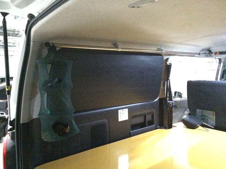 多用途で便利 簡単自作パイプラック取り付け ハイエース200系diy パイプ ラック ハイエース バンでの生活
