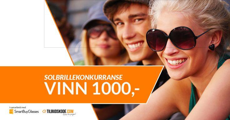 Vinn et gavekort på 1000,- ! Alle deltakere får dessuten en eksklusiv rabattkode som gir deg 7% rabatt på briller og solbriller hos SmartBuyGlasses.no. Konkurransen avsluttes den 31. oktober 2014