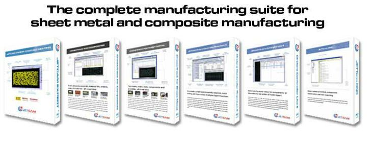 CADCAM nesting software - sheet metal fabrication, composite cutting, routing - JETCAM - manufacturing suite