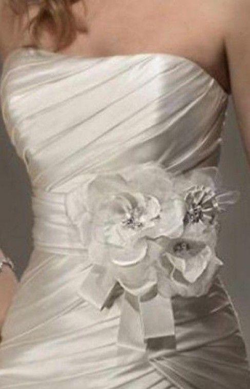 cinture da sposa in raso e organza con decorazioni