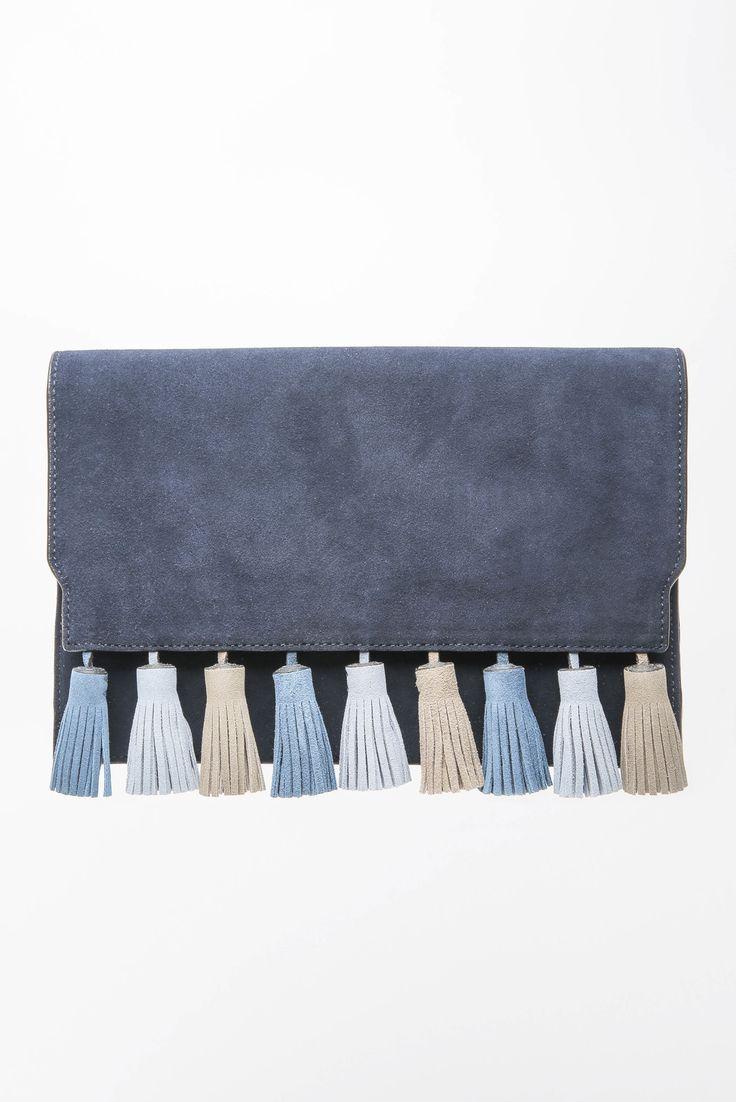 Rebecca Minkoff Sofia Moon Tassel Clutch Bag | South Moon Under