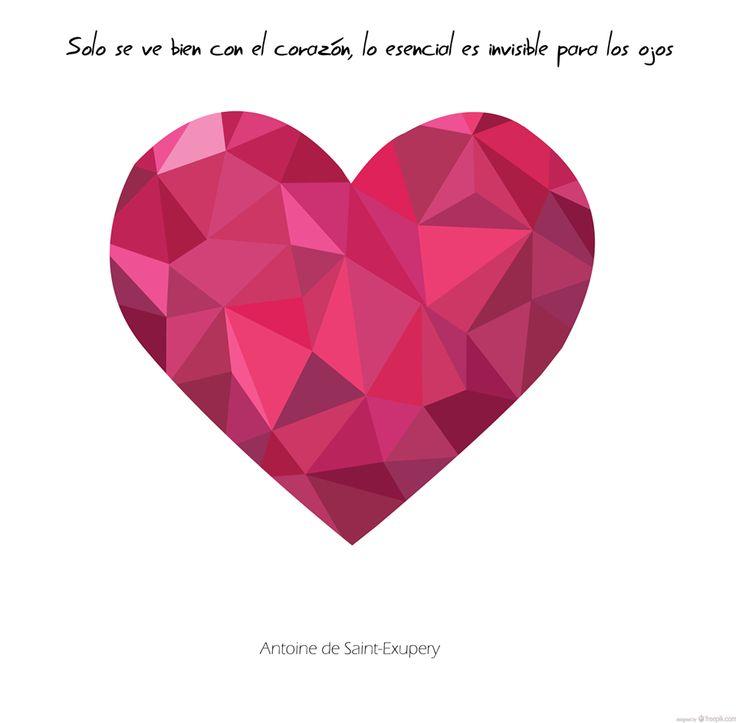 """""""Solo se ve bien con el corazón, lo esencial es invisible para los ojos""""; con esta maravillosa frase del libro """"El Principito"""", os decimos... ¡Buenos días!"""