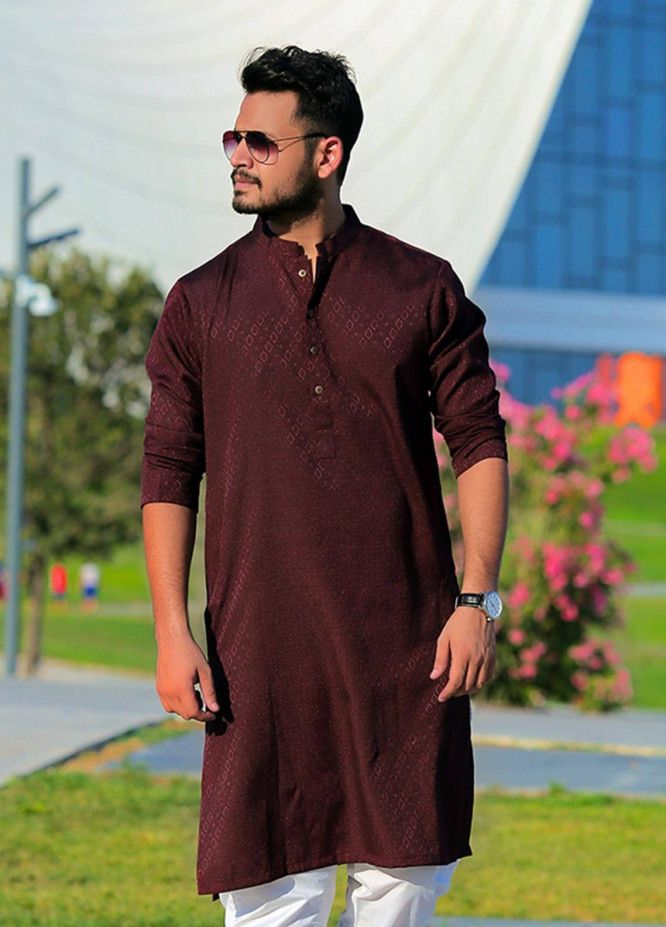 Buy Red Tree Cotton Casual Kurtas For Men Maroon Rtm18ks 4265