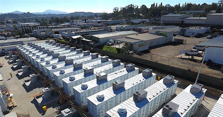 Литий-ионная система хранения энергии, работающая в Калифорнии, может обеспечивать энергией 20 тыс. домохозяйств на протяжении 4 часов.