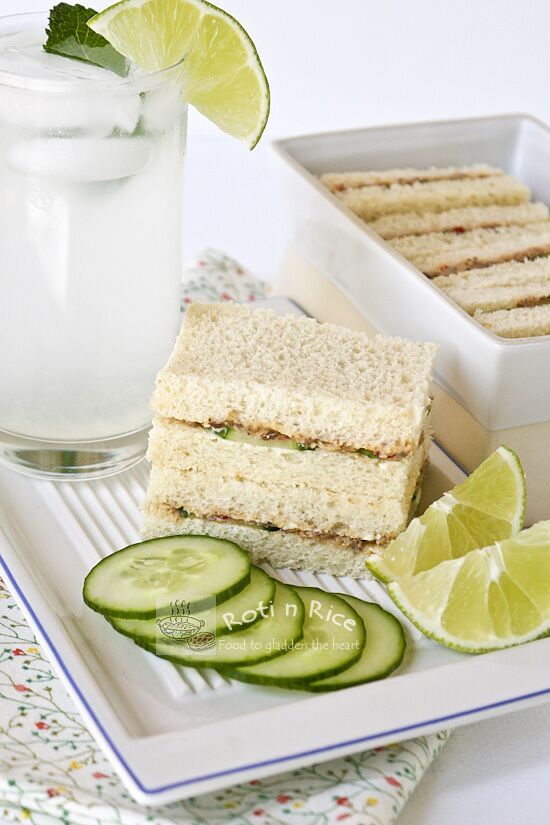 Sandwiches, Cucumber sandwiches and Rice on Pinterest
