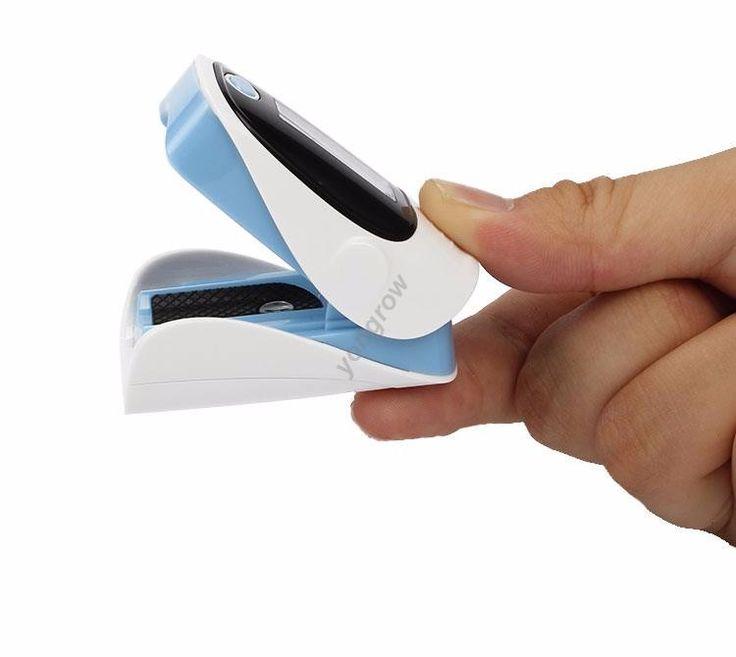 Oxímetro de Pulso da ponta do dedo com tela OLED e monitor de pulso medidor de spo2 saturação. Leituras rápidas e preciso, fácil de transportar.