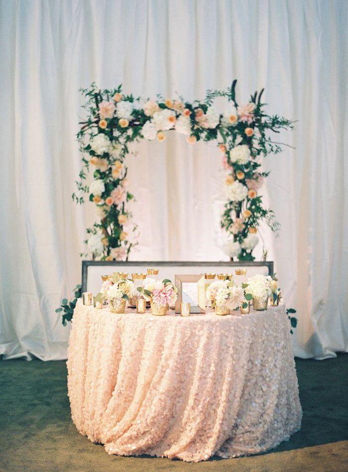 Blush color wedding reception idea; via Charmed Events Group