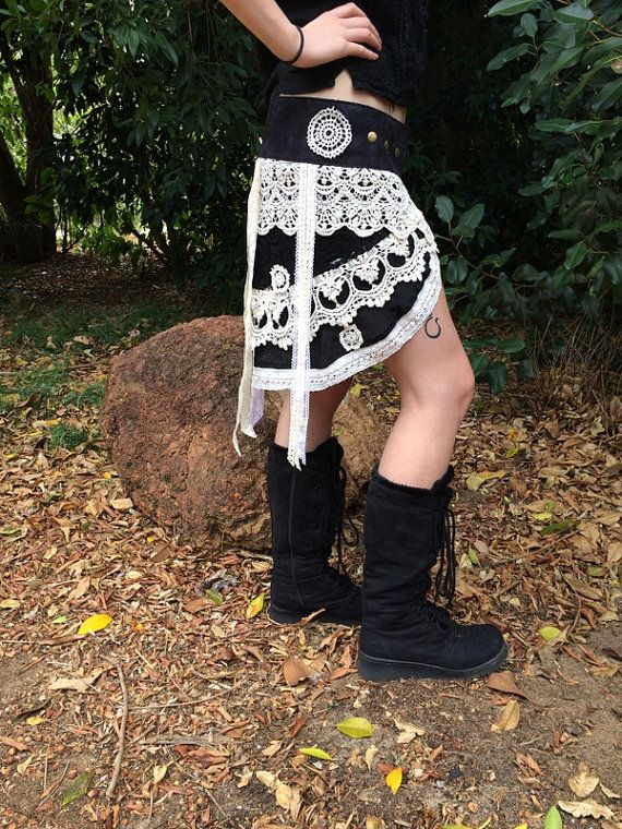 Hippie Gypsy Lace Overlay Skirt with by HippieGypsybyCherie
