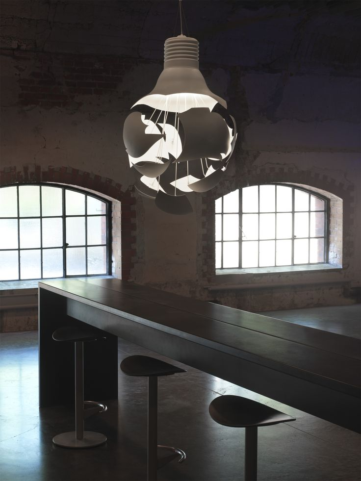 Scheisse is a large pendant lamp by Northern Lighting. The lamp pays its respect to the traditional incandescent light bulb. #Nordic #Scandinavia