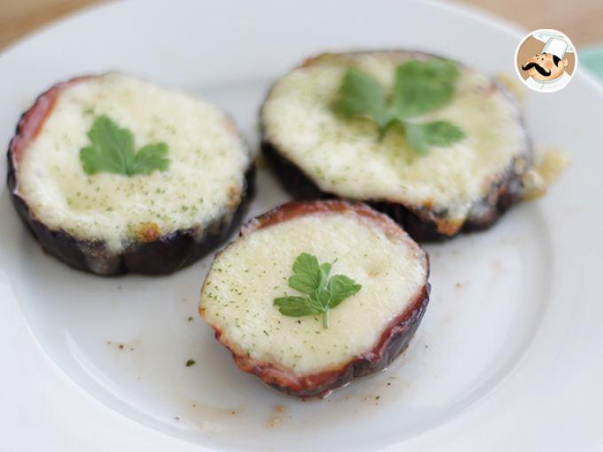 Recette Apéritif : Mini pizzas d'aubergine par Ptitchef_officiel