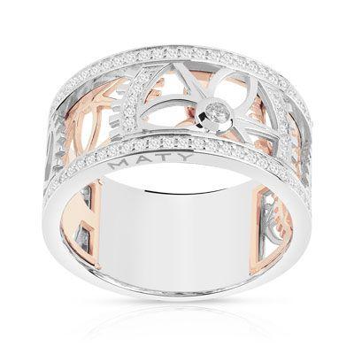Bague Vesontio 2 ors 750 diamant - vue 1