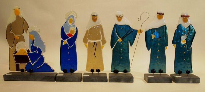 De Tre Vise Mænd, jomfru Maria , Joseph og Jesusbarnet. www.roentveds.dk
