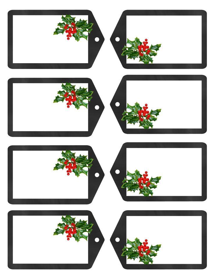 Free Christmas Gift Tags JPG