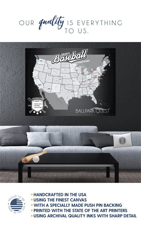This Item Is Unavailable Etsy State Art Baseball Stadium Push Pin Map