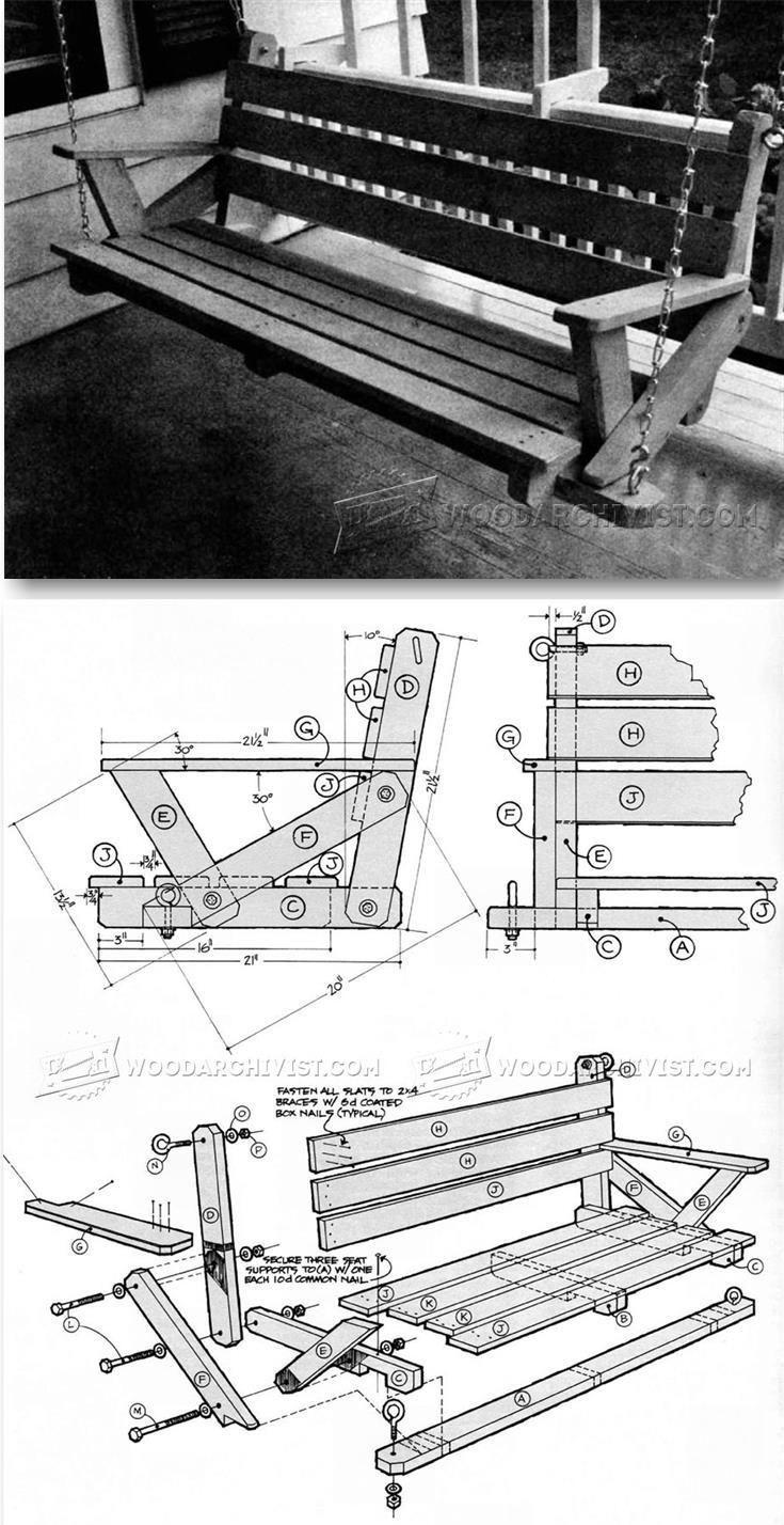 Porch Swing Plans - Outdoor Furniture Plans & Projects   WoodArchivist.com