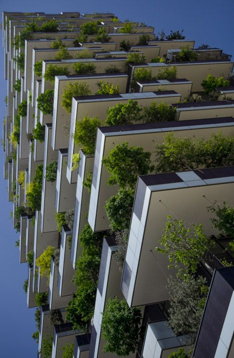 Vertical Forests: 2 Lush Urban Towers Support 16,000 Plants
