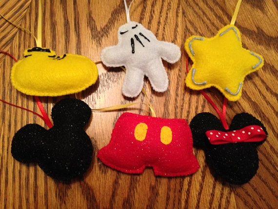 Adornos de Fieltro: Disney