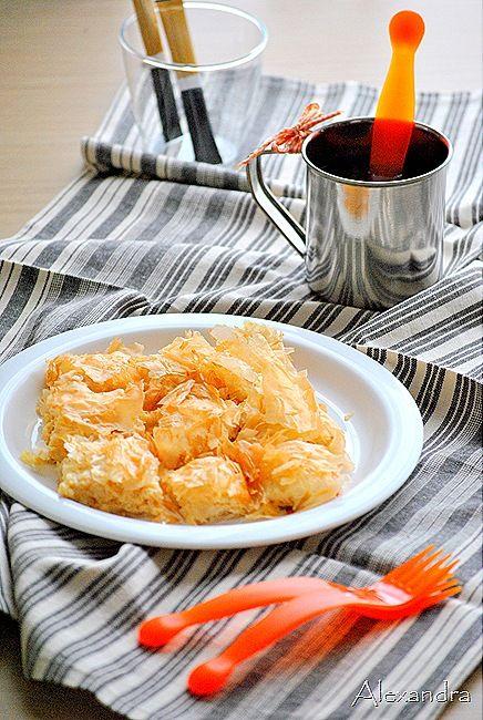 Savory bougatsa with cheese @magyreuonats.blogspot.gr