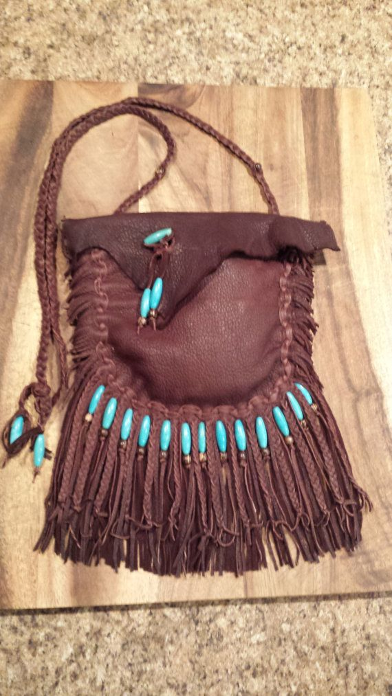 Native American leather bag by TribalTerri on Etsy