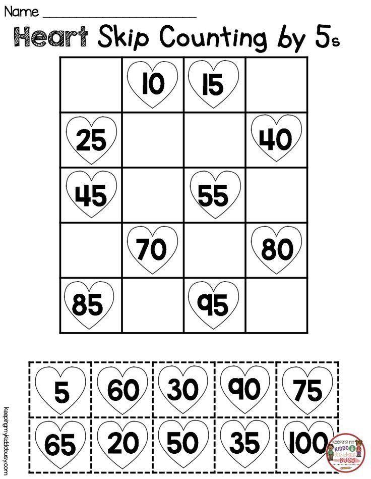 Counting By Tens Worksheet Kindergarten February Math Ela Pack Freebies In 2020 Math Valentines February Math Kindergarten Math