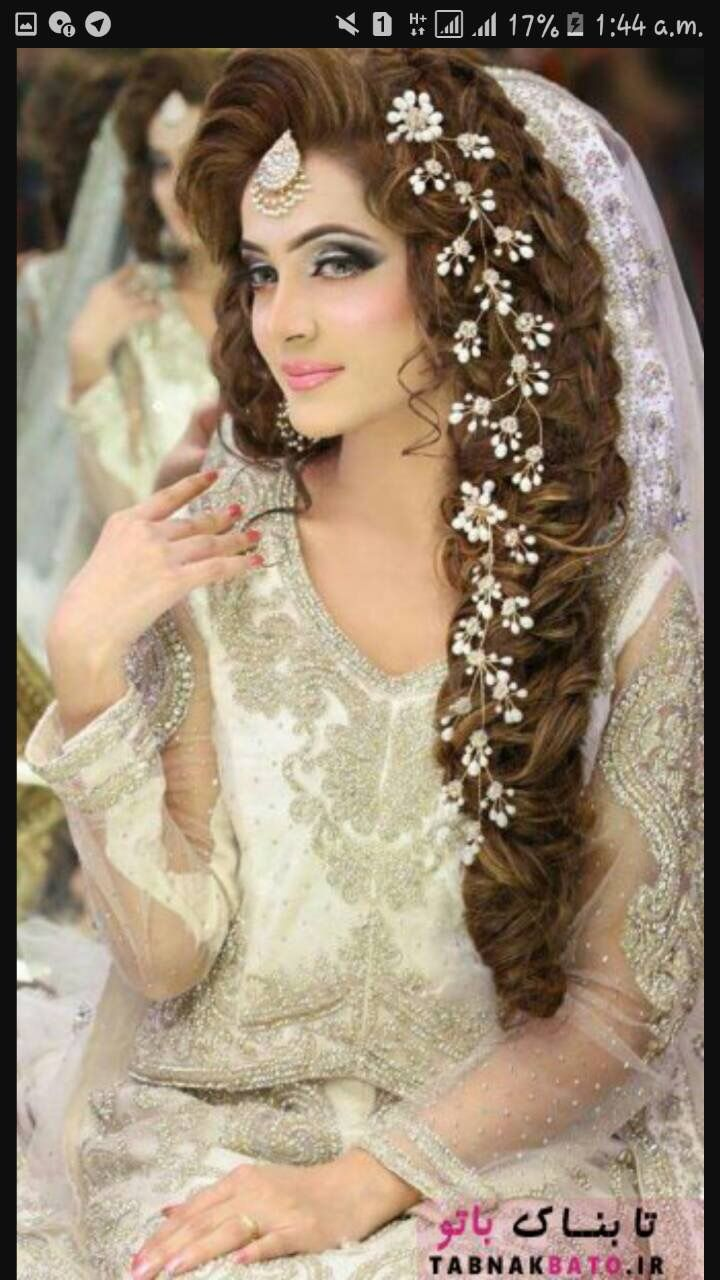 pin by shaboo on india dress | pakistani bride hairstyle