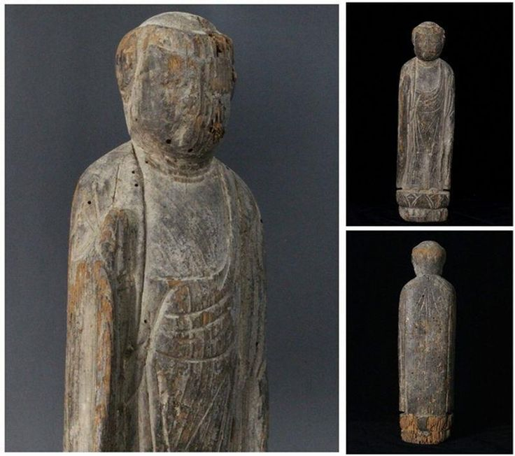 "This is a "" Amitabha Nyorai "" statues of kamakura era. era:12th c. condition: used / Good antique condition with age appropriate wear and flaws. It is a buddhist image that feels the age. There is a possibility that a color of the photograph and an actual color are somewhat different. 