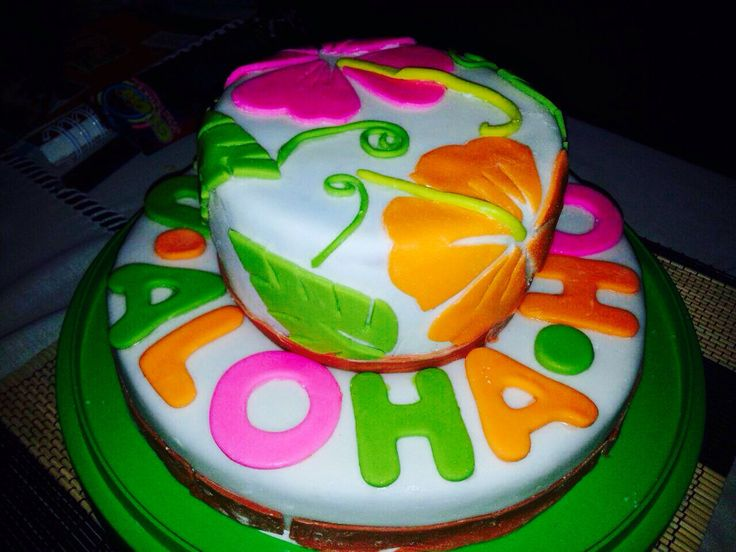 Cake hawai fondant