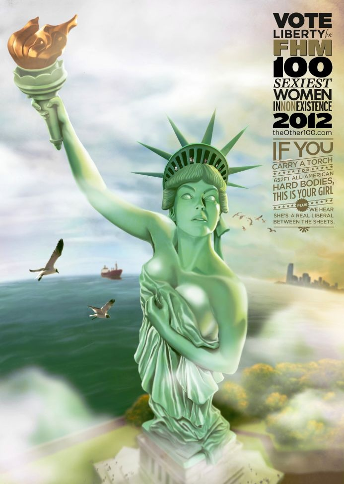 FHM Sexiest Women in Non-Existence - Statue of Liberty [image]   scaryideas.com