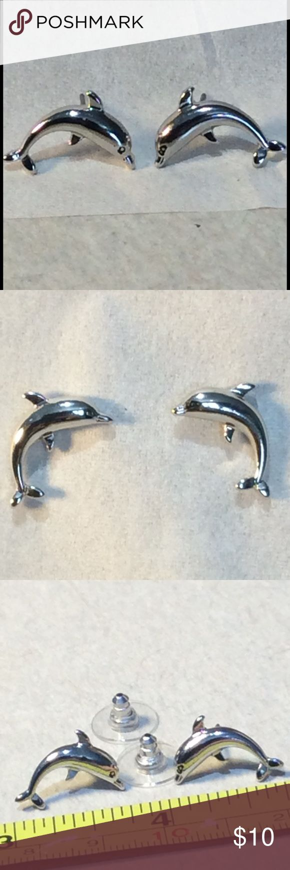 Silver Dolphin Studs Silver plated dolphin Stud earrings brand new Jewelry Earrings